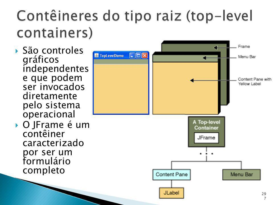 Contêineres do tipo raiz (top-level containers)