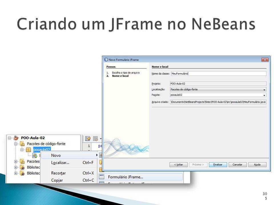 Criando um JFrame no NeBeans