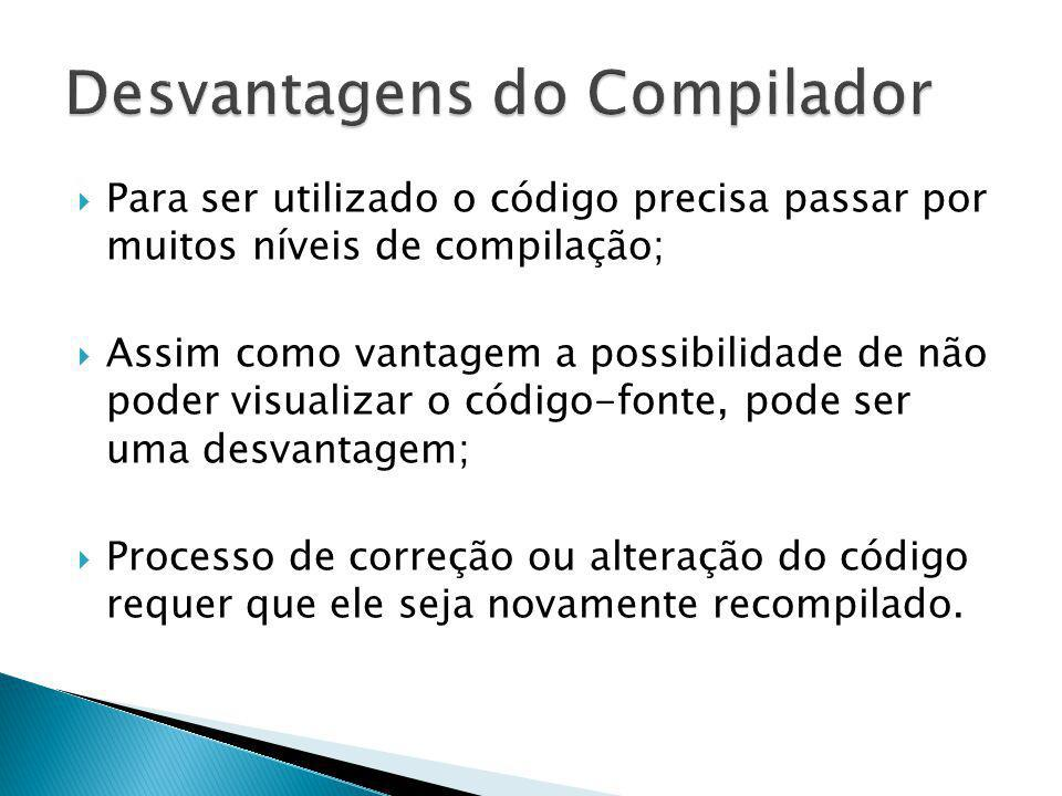 Desvantagens do Compilador