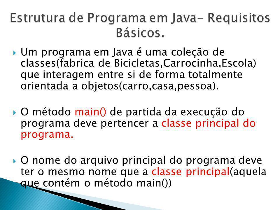 Estrutura de Programa em Java- Requisitos Básicos.