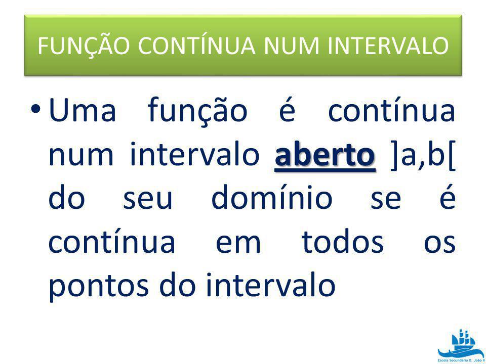 FUNÇÃO CONTÍNUA NUM INTERVALO