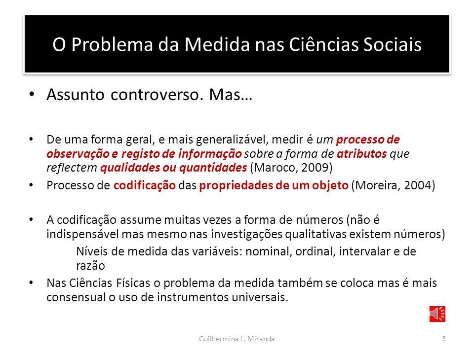 O Problema da Medida nas Ciências Sociais