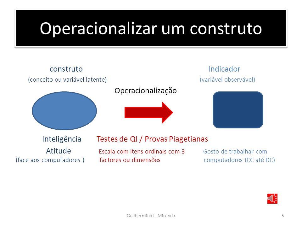 Operacionalizar um construto