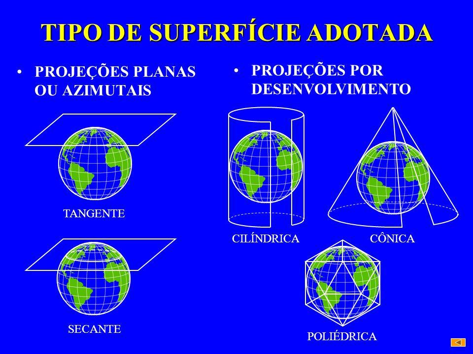 TIPO DE SUPERFÍCIE ADOTADA