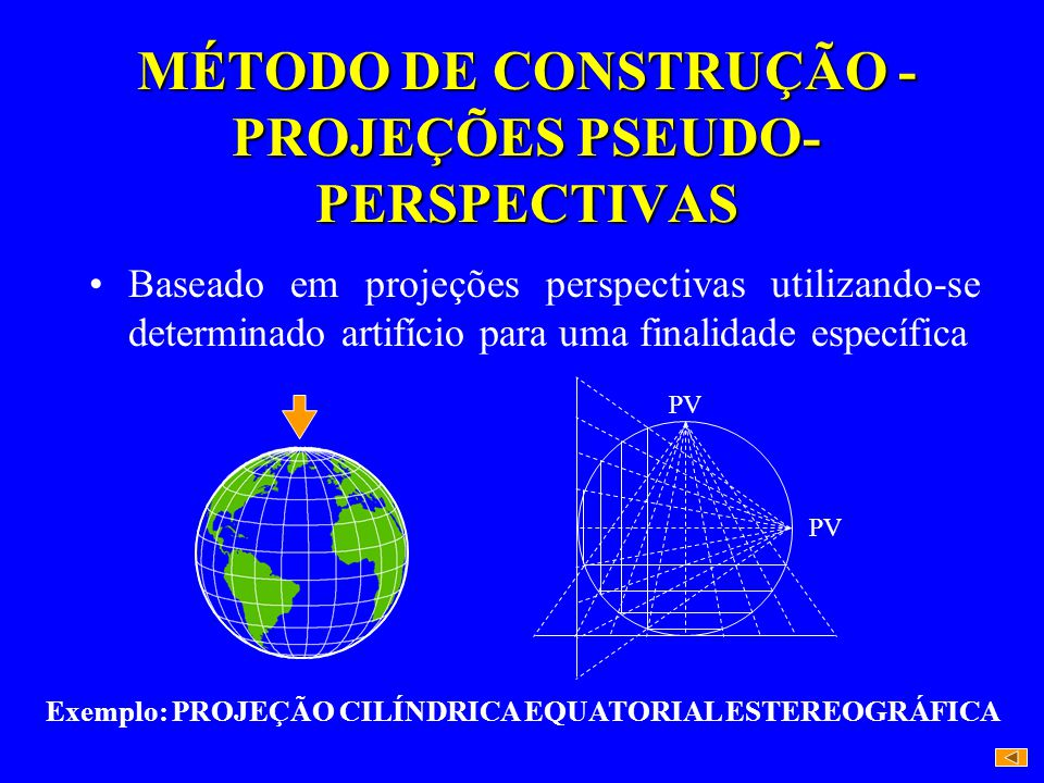 MÉTODO DE CONSTRUÇÃO - PROJEÇÕES PSEUDO-PERSPECTIVAS