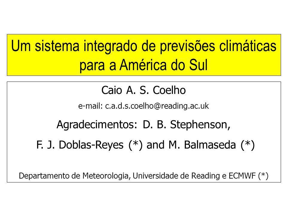 Um sistema integrado de previsões climáticas para a América do Sul