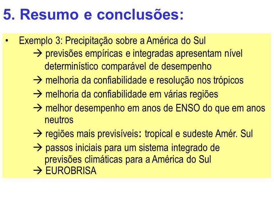 5. Resumo e conclusões: Exemplo 3: Precipitação sobre a América do Sul