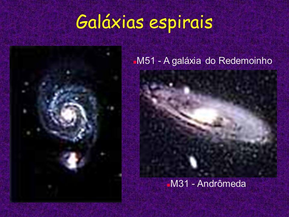 Galáxias espirais M51 - A galáxia do Redemoinho M31 - Andrômeda
