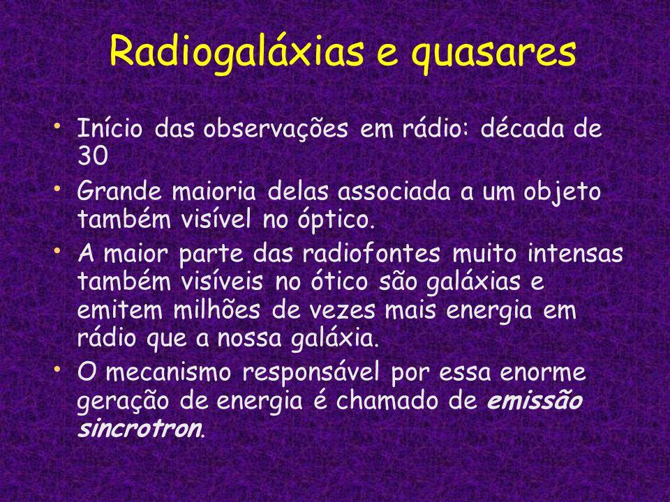 Radiogaláxias e quasares