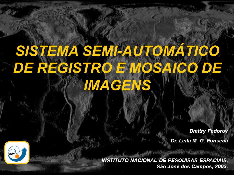 SISTEMA SEMI-AUTOMÁTICO DE REGISTRO E MOSAICO DE IMAGENS