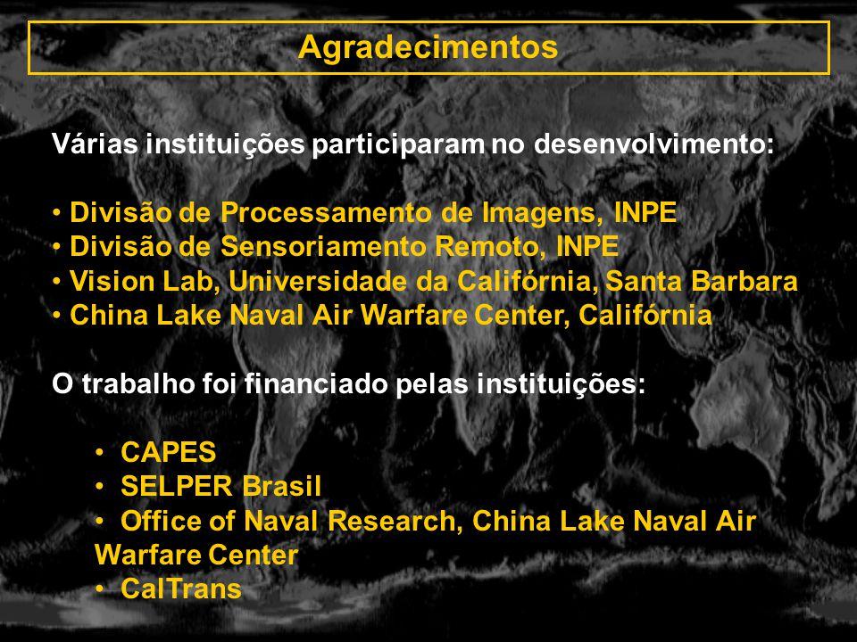 Agradecimentos Várias instituições participaram no desenvolvimento: