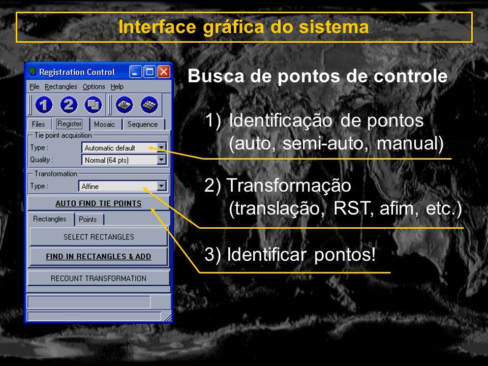 Interface gráfica do sistema Busca de pontos de controle