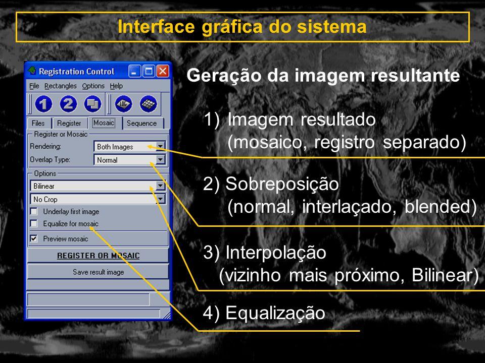 Interface gráfica do sistema Geração da imagem resultante