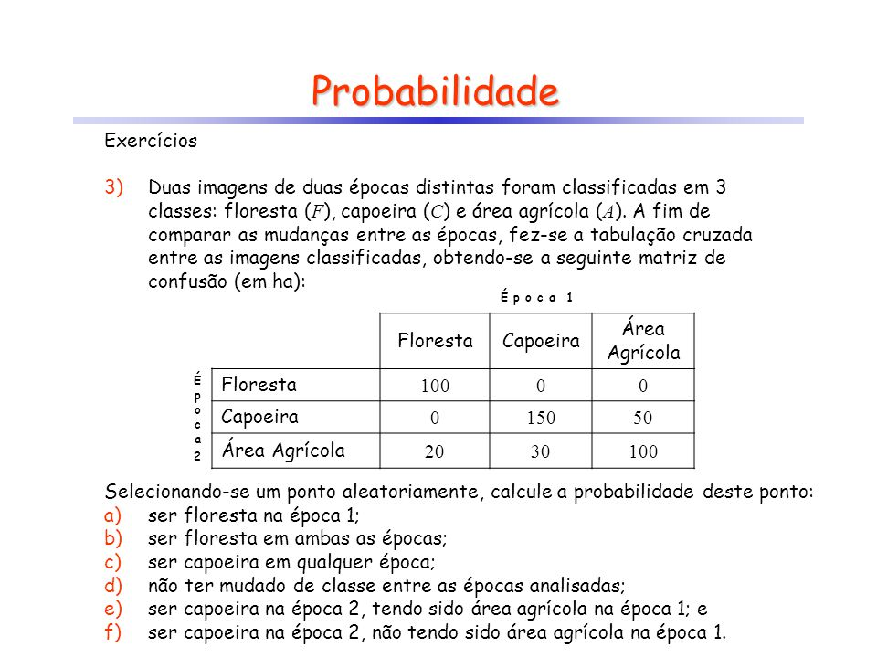 Probabilidade Exercícios