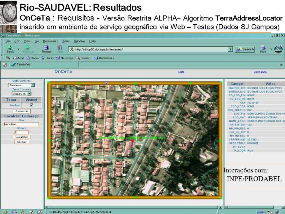 Rio-SAUDAVEL: Resultados
