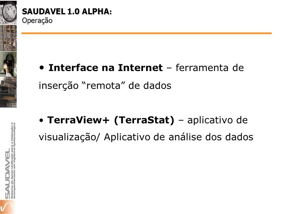 Interface na Internet – ferramenta de inserção remota de dados