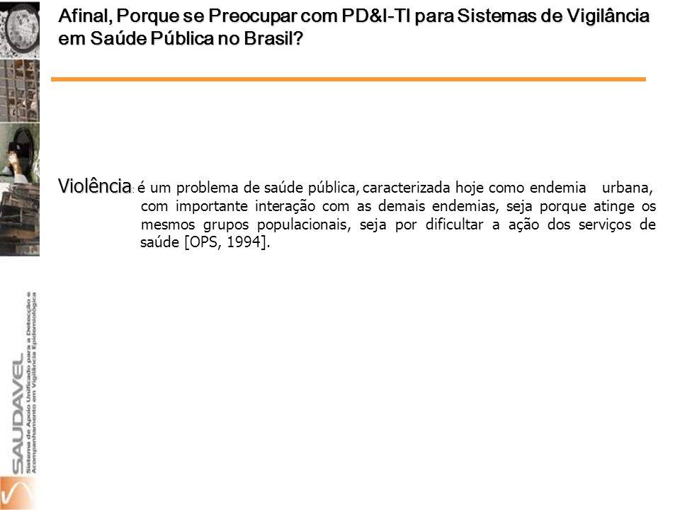 Afinal, Porque se Preocupar com PD&I-TI para Sistemas de Vigilância em Saúde Pública no Brasil