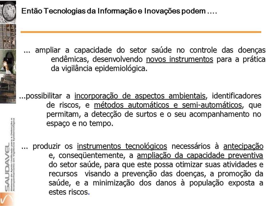 Então Tecnologias da Informação e Inovações podem ….