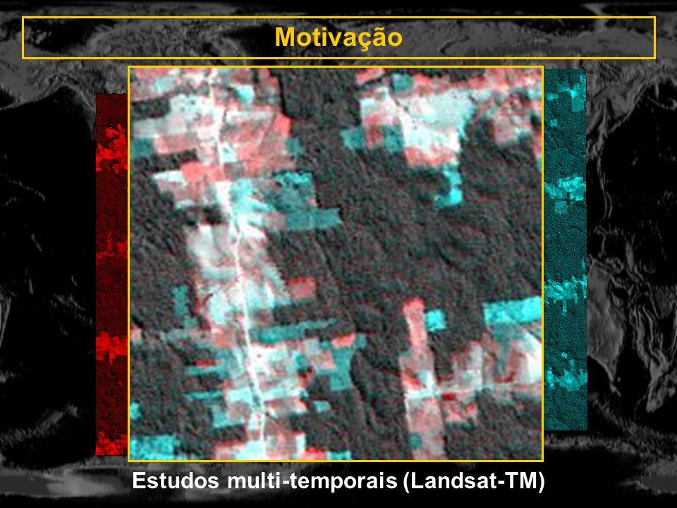 Estudos multi-temporais (Landsat-TM)