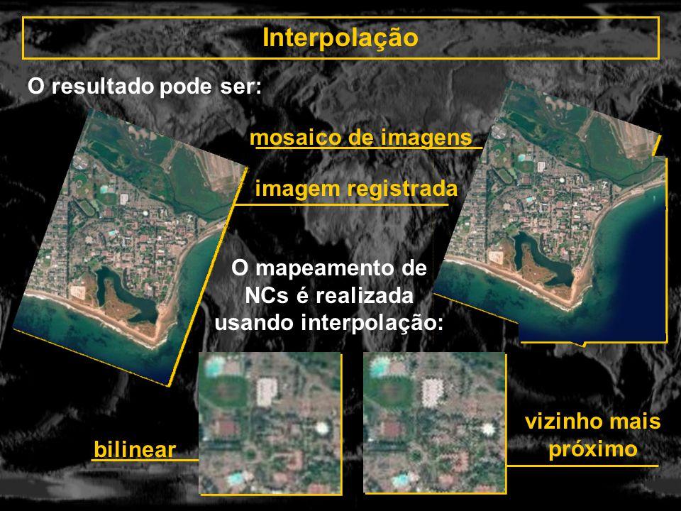 O mapeamento de NCs é realizada usando interpolação: