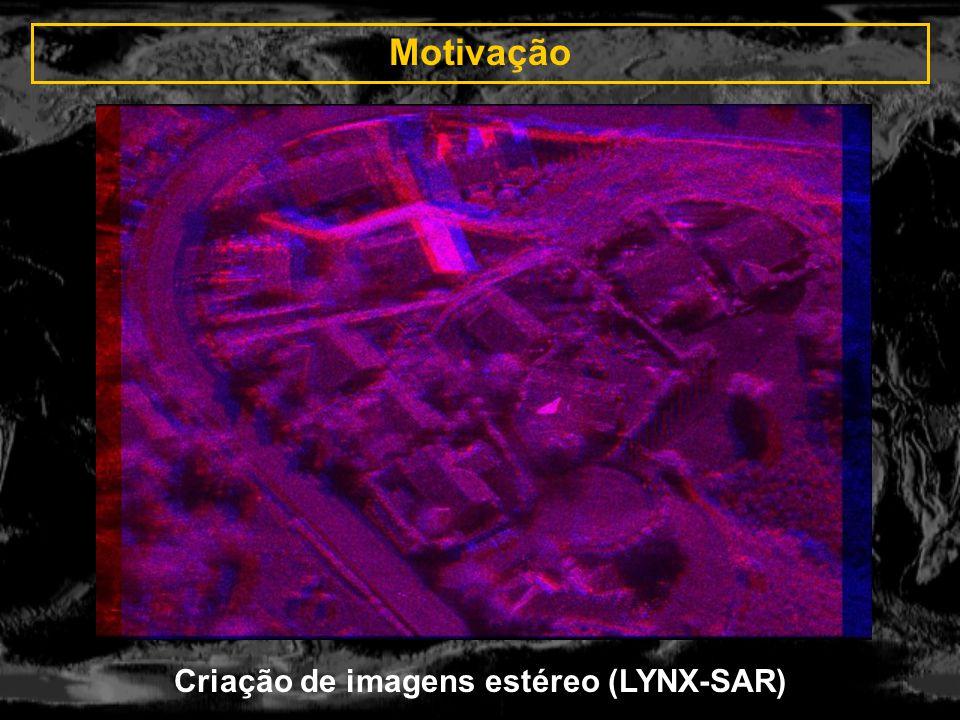 Criação de imagens estéreo (LYNX-SAR)