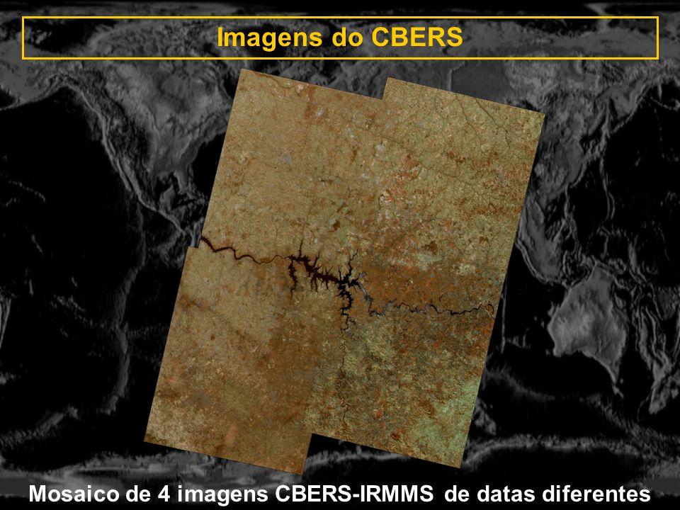 Mosaico de 4 imagens CBERS-IRMMS de datas diferentes