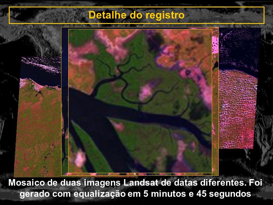 Detalhe do registro Mosaico de duas imagens Landsat de datas diferentes.