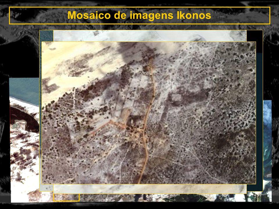 Mosaico de imagens Ikonos