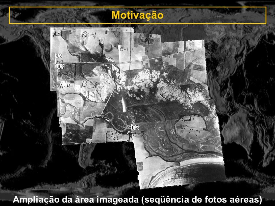 Ampliação da área imageada (seqüência de fotos aéreas)