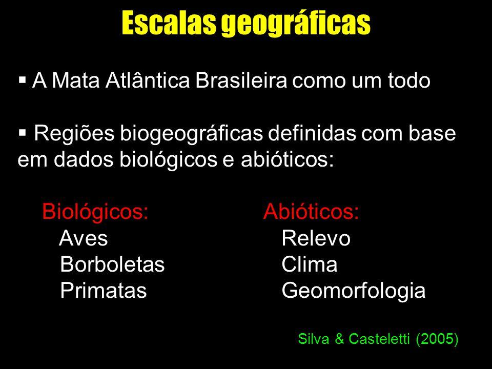 Escalas geográficas A Mata Atlântica Brasileira como um todo