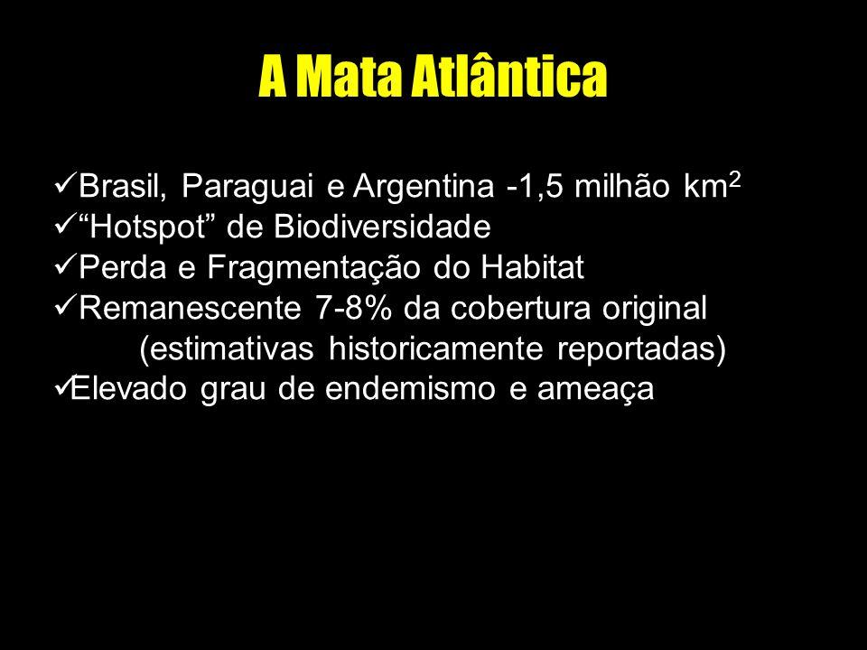 A Mata Atlântica Brasil, Paraguai e Argentina -1,5 milhão km2