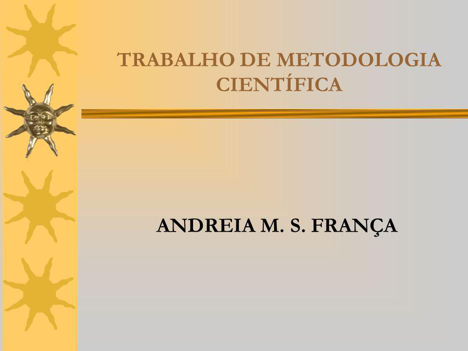 TRABALHO DE METODOLOGIA CIENTÍFICA