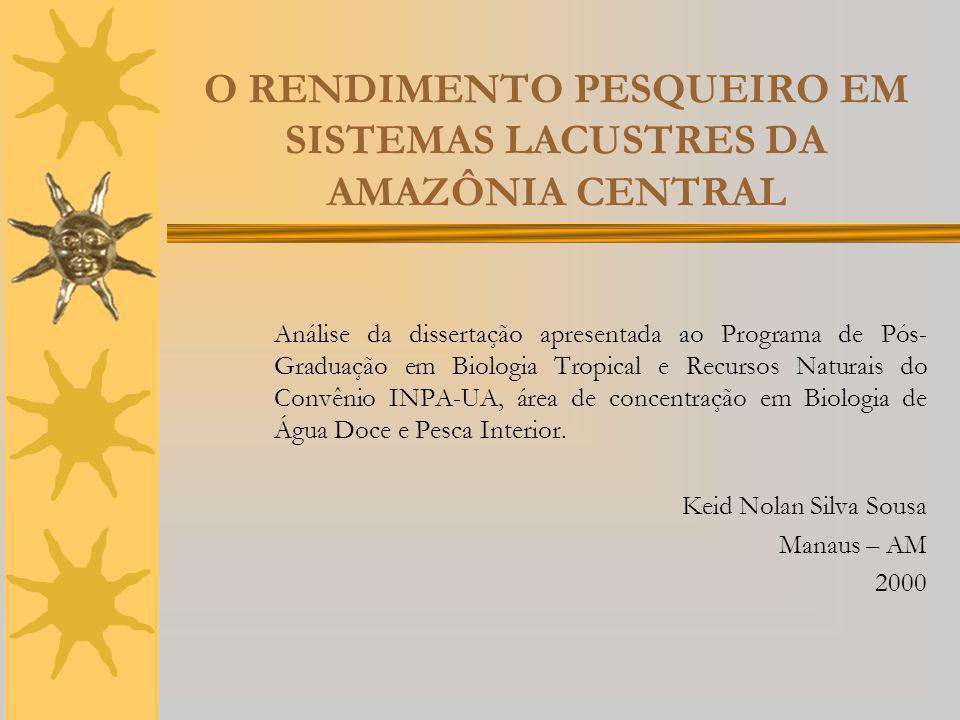O RENDIMENTO PESQUEIRO EM SISTEMAS LACUSTRES DA AMAZÔNIA CENTRAL