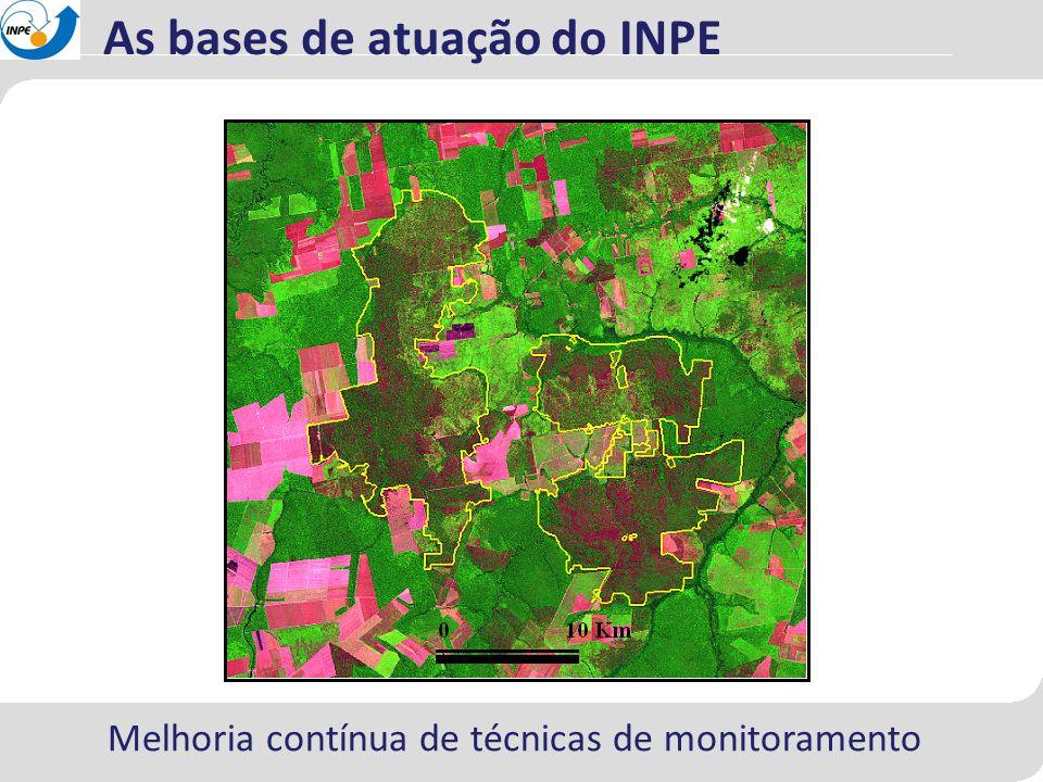 As bases de atuação do INPE