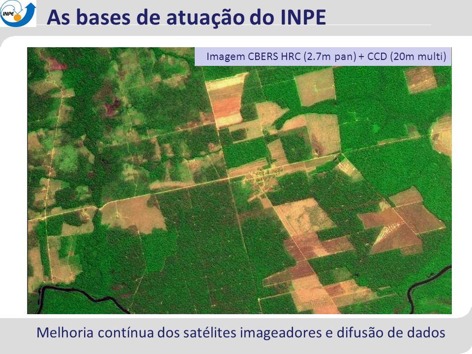 Melhoria contínua dos satélites imageadores e difusão de dados