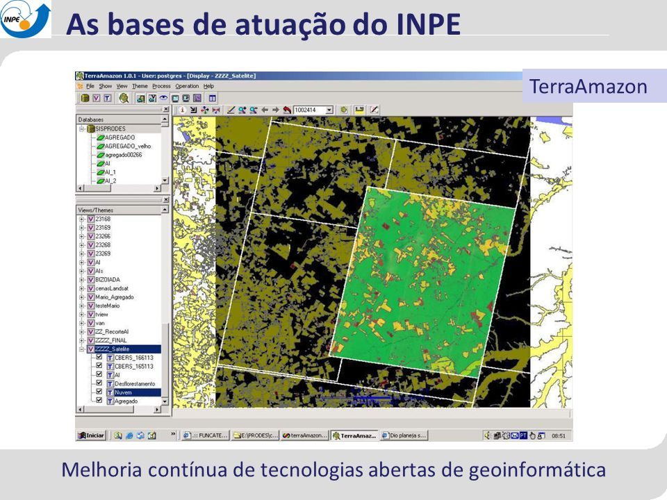 Melhoria contínua de tecnologias abertas de geoinformática