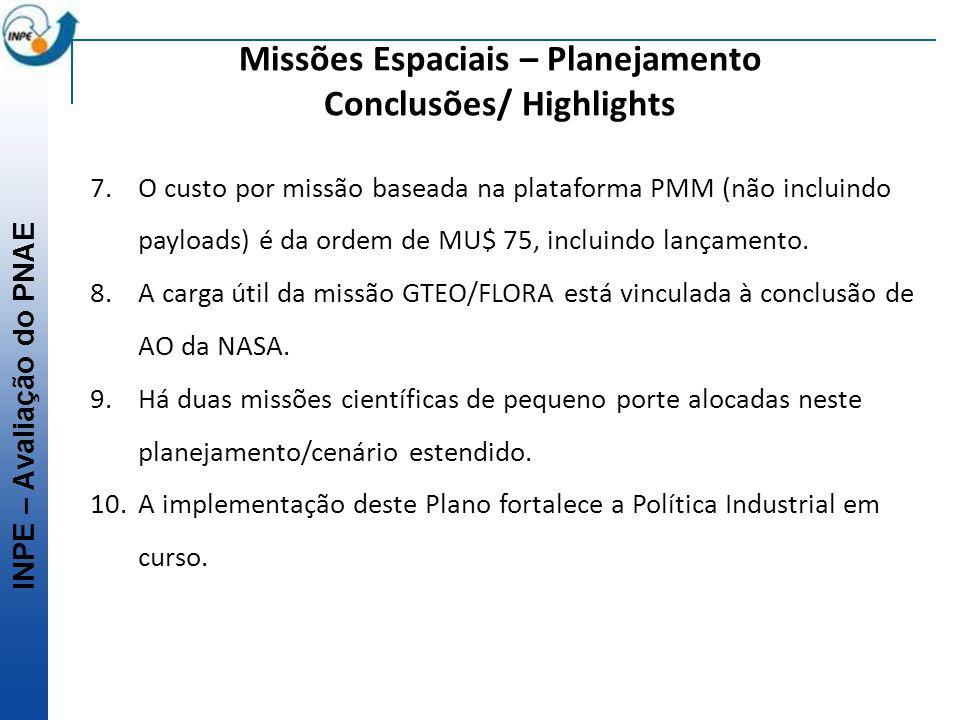 Missões Espaciais – Planejamento Conclusões/ Highlights