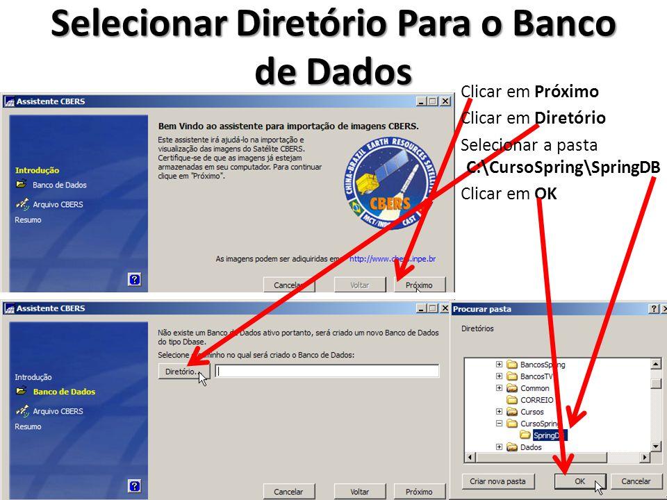 Selecionar Diretório Para o Banco de Dados