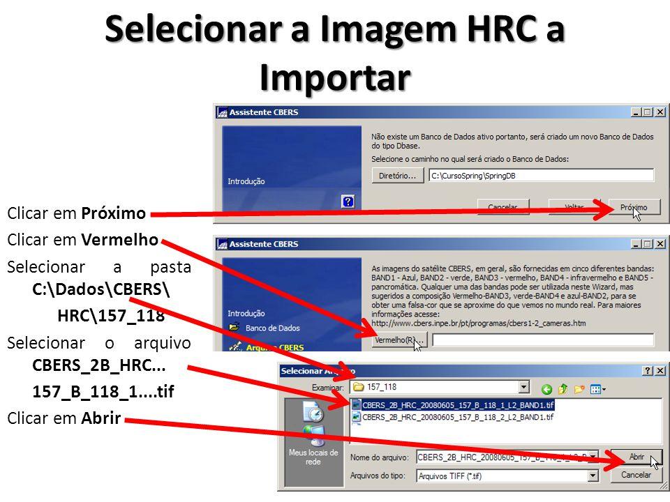 Selecionar a Imagem HRC a Importar