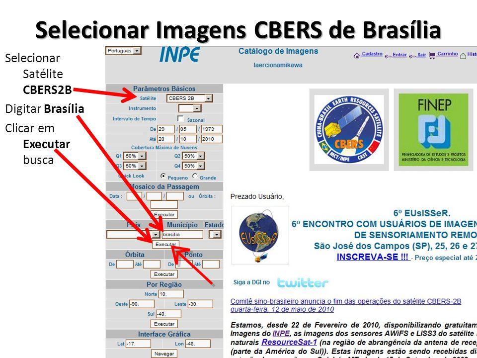 Selecionar Imagens CBERS de Brasília