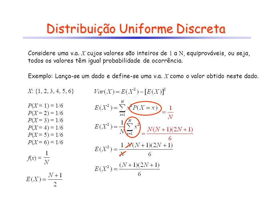 Distribuição Uniforme Discreta
