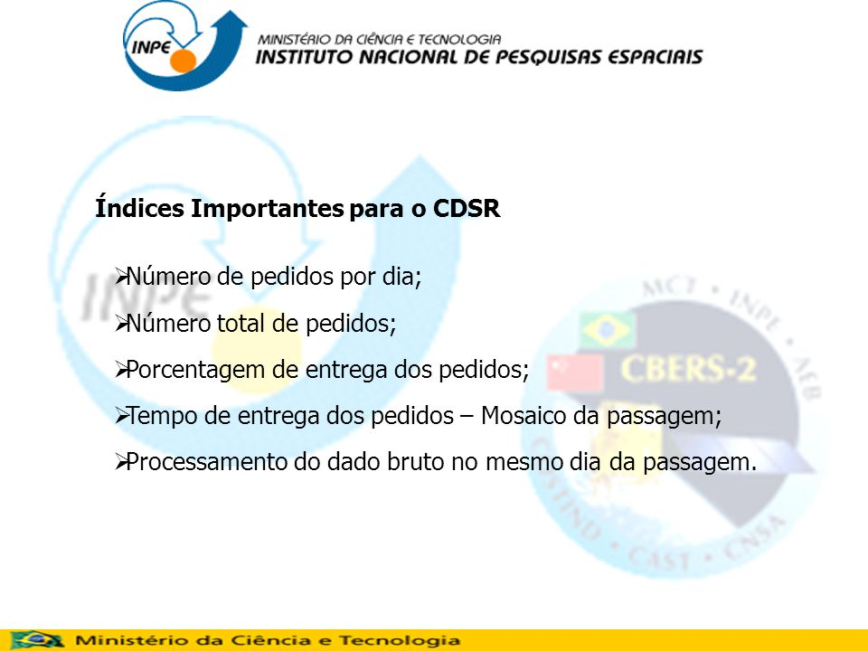 Índices Importantes para o CDSR