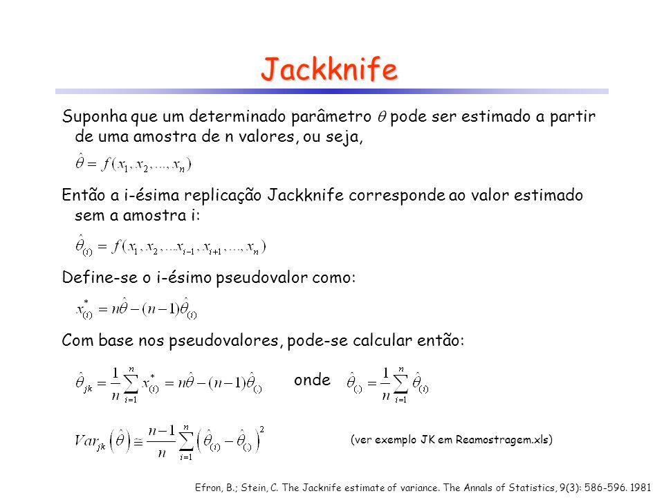 (ver exemplo JK em Reamostragem.xls)