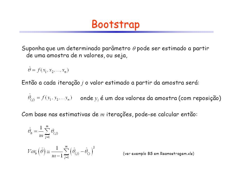 (ver exemplo BS em Reamostragem.xls)