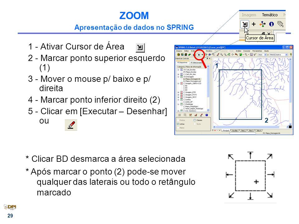 ZOOM Apresentação de dados no SPRING