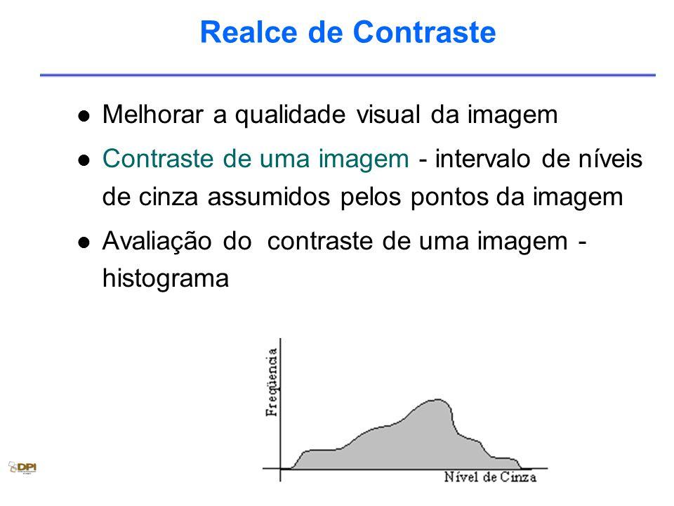 Realce de Contraste Melhorar a qualidade visual da imagem