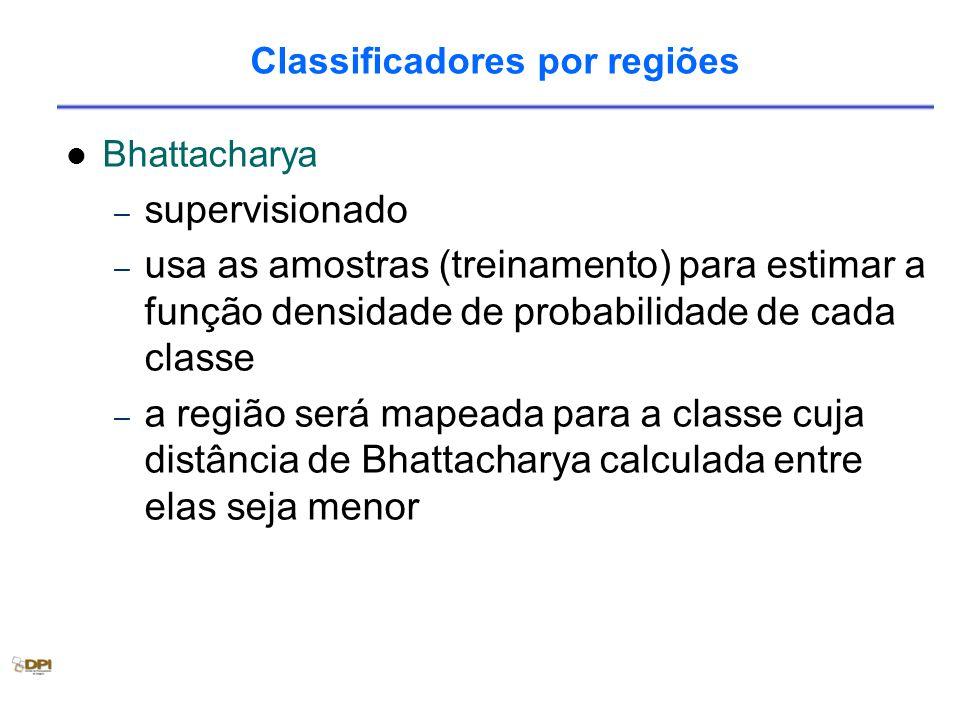 Classificadores por regiões