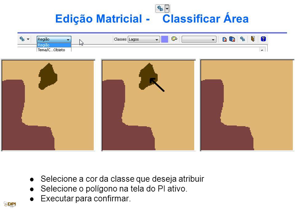 Edição Matricial - Classificar Área