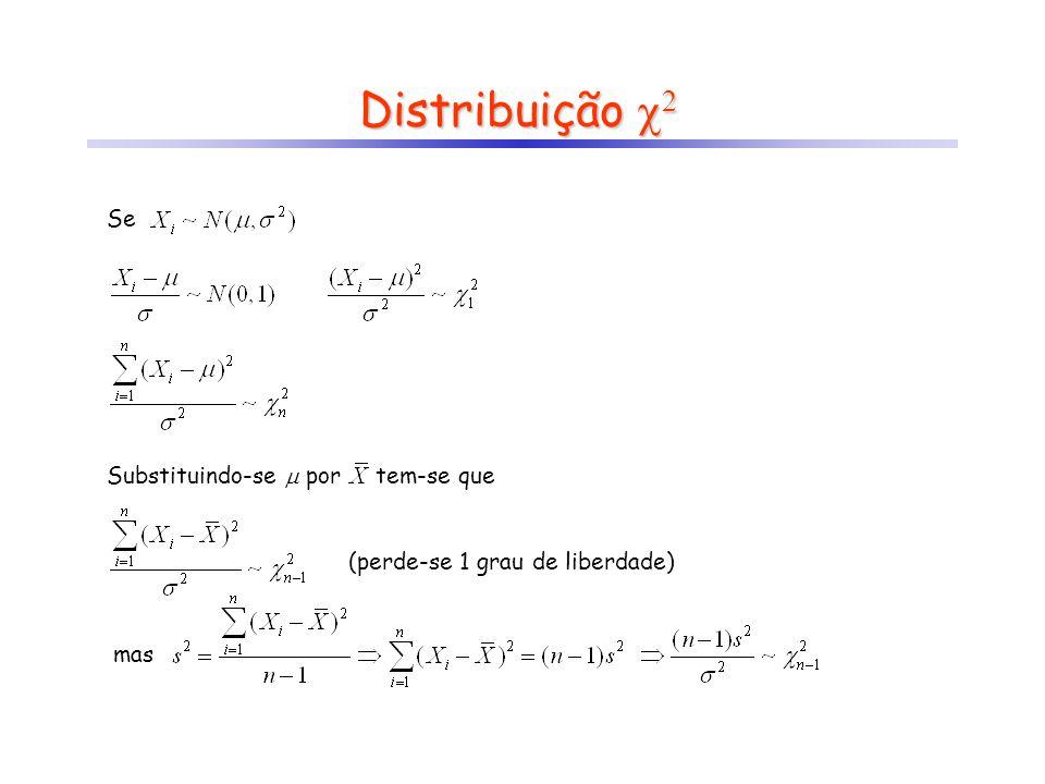 Distribuição 2 Se Substituindo-se  por tem-se que