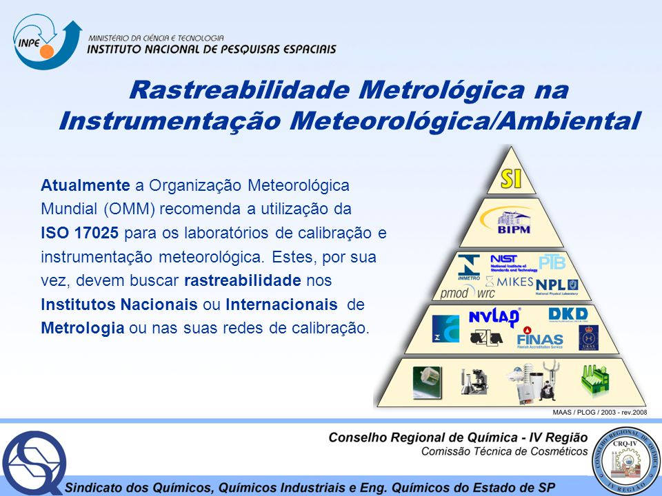 Rastreabilidade Metrológica na Instrumentação Meteorológica/Ambiental